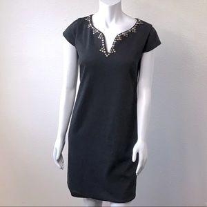 3/$25 Jessica Howard Black Dress Stud V Neckline